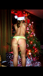 Beautiful wife in front of the xmas tree last year.