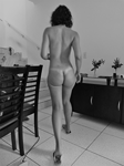 Just walking naked at home