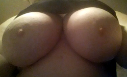 Squeeze these round firm natural tits! Suck my nipples!