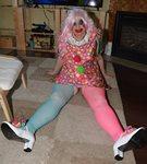 Clowning around,...