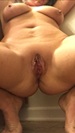 I love posing like this...it makes my pussy open up.  What do you think?