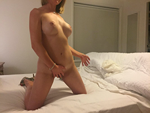 Rubbing my clit while hubby makes me wait for his cock.
