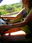 Driving on holiday (cooler without knickers, lol.)