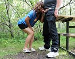 Nothing like a blowjob in the park!