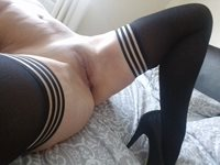 Pussy, hold ups and heels