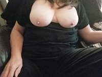 How do my tits look against my black top?