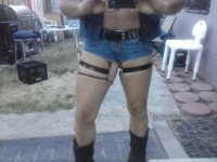 Outside checking out my new shorts
