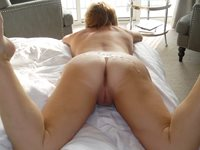 mmm I love my ass being covered in hot cum xxx