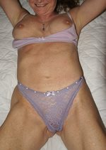 H teasing me with some purple lingerie...hmmm should I fuck her?