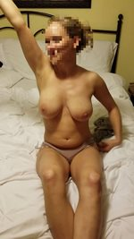 My sexy milf squeezing her big tits