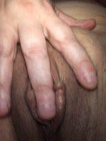 Cuddling my finger