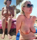 I hope you like this contrast pic of my wife before and after? Filthy comme...