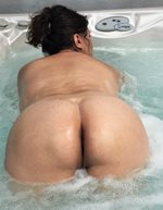 Melissa can't resist showing off her big, fat hot ass.....damn it is fine t...