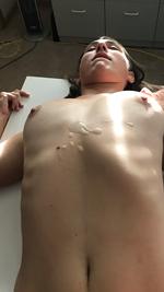 Cum shot on her tits