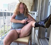 Boots on the balcony