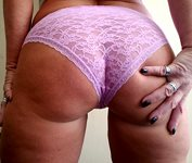 Today's panty - pink lace ;-)