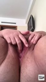 She loves playing with her big thick hairy cunt