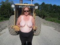 Out for a toppless walk comments pms well come guys girls love sue,,xxoxoxo...